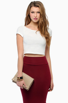 Short and Scoop Crop Top - Tobi