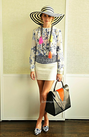 olivia palermo shoes skirt sweater