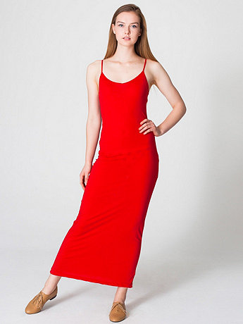 Long Spaghetti Tank Dress  American Apparel