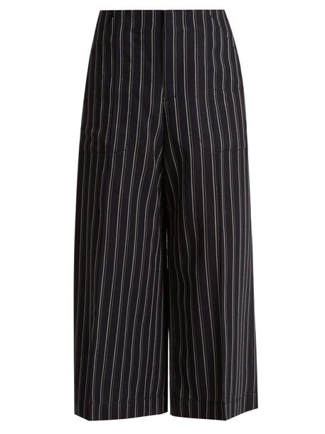 Acne Studios cropped wool navy pants