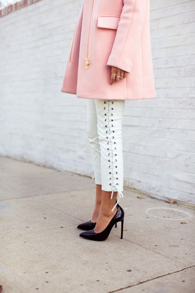 jacket pink jacket fashion bloggers fashions