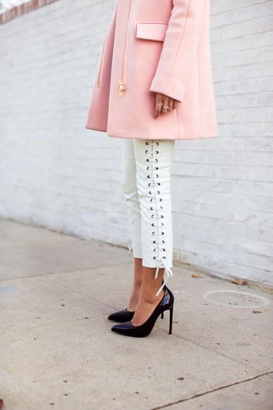 jacket pink jacket fashion bloggers fashions