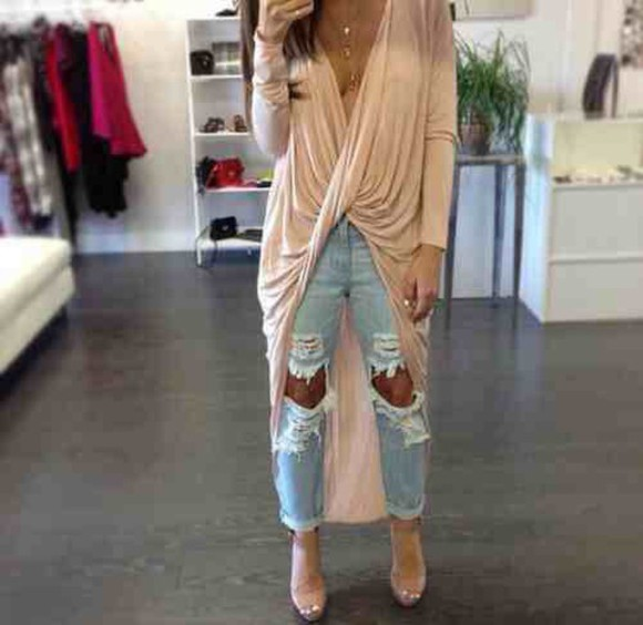 beige blouse top cute draped