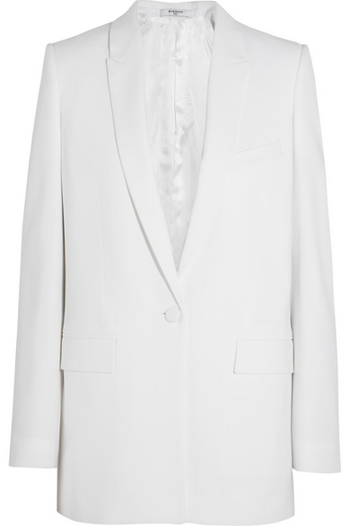 Givenchy|White stretch-cady blazer|NET-A-PORTER.COM