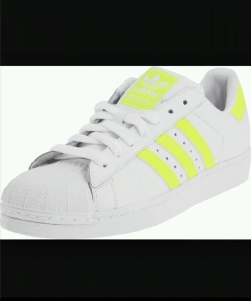 online store a72fd 98377 shoes adidas superstar white yellow pharrell williams