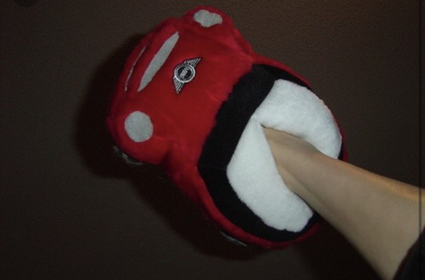 shoes mini cooper car red blue slippers mini comfy