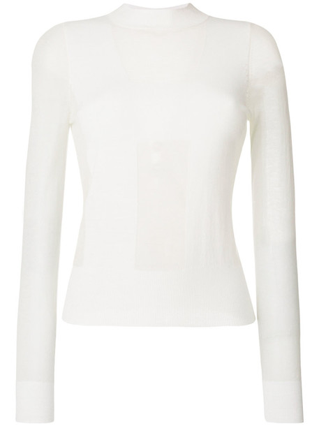 Henrik Vibskov blouse sheer blouse sheer women white wool top