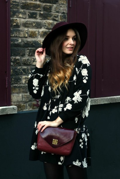 blouse purse floral shirt hat spring