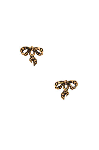 bow new earrings stud earrings metallic gold