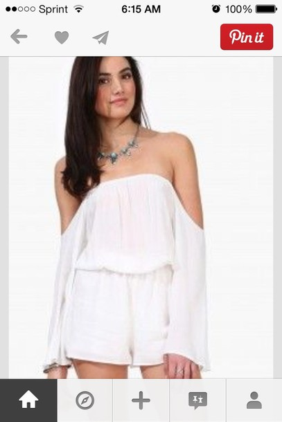 dress romper off the shoulder
