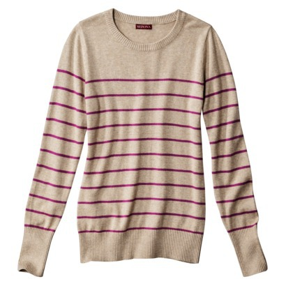 Merona® Women's Crewneck Striped Pullover Sw... : Target