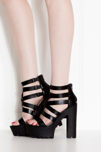 shoes black shoes black high heels sandals edgy cicihot