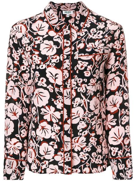 Kenzo - Floral Leaf shirt - women - Silk - 38, Silk