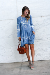 twenties girl style,blogger,dress,shoes,cardigan,bag,shoulder bag,blue dress,wedges,fall outfits,long sleeve dress