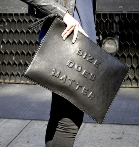 bag clutch size does matter