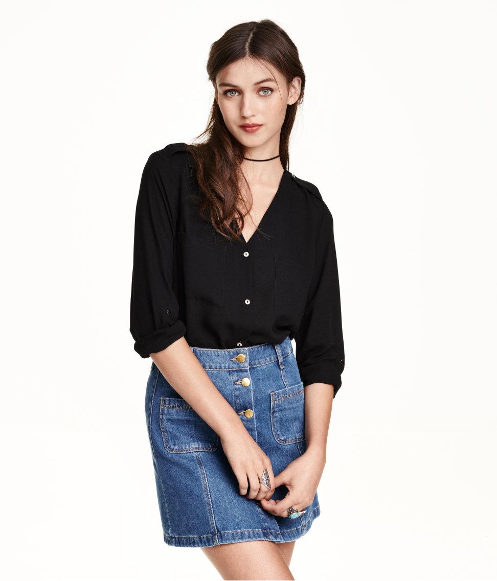 H&M V-neck Blouse $24.99