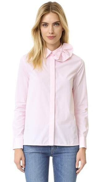 shirt bow pale candy top