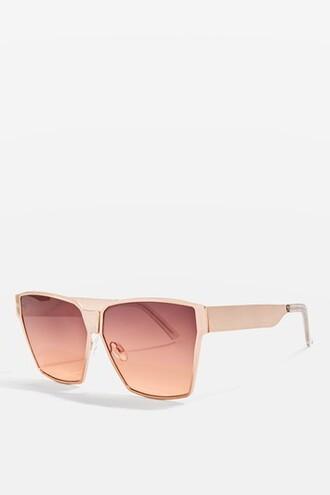 oversized rose gold rose sunglasses gold