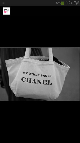 funny quote on it bag purse chanel
