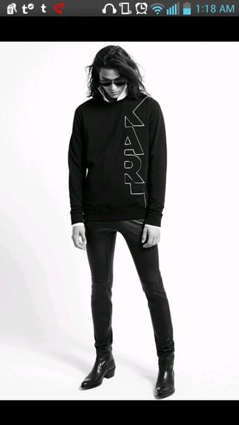 sweater karl lagerfeld black sweater