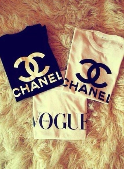 chanel vogue t-shirt fake deluxe shirt chanel, white, black. sweater white black chanel t-shirt chanel, vogue shirts vogue shirt chanel sweatshirt