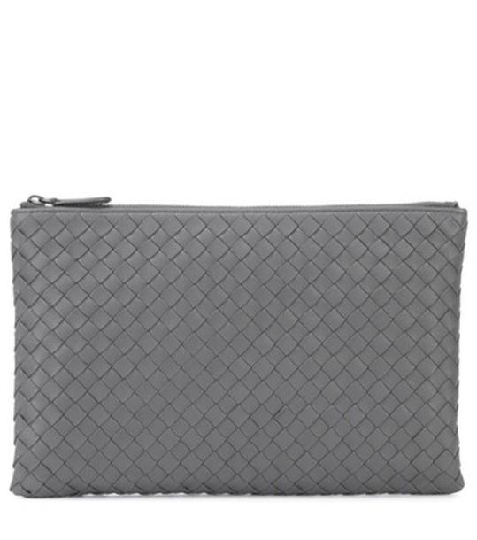 Bottega Veneta leather clutch clutch leather grey bag