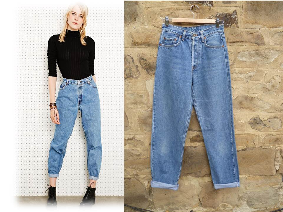 LEVIS MOM JEANS high waist taper leg size 8 with 32 leg