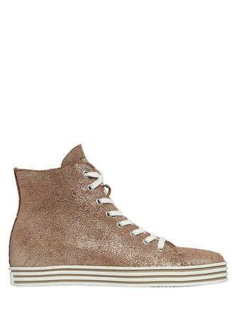 suede sneakers metallic sneakers suede bronze shoes