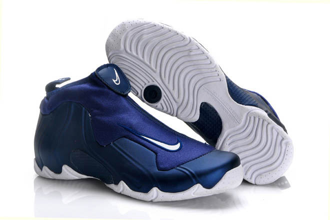 Air Flightposite 1 Royal Blue and Navy Blue and White Men Basketball Sneakers -  $107.00
