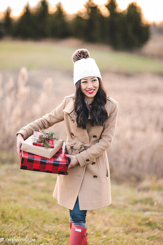 extra petite blogger coat shoes hat