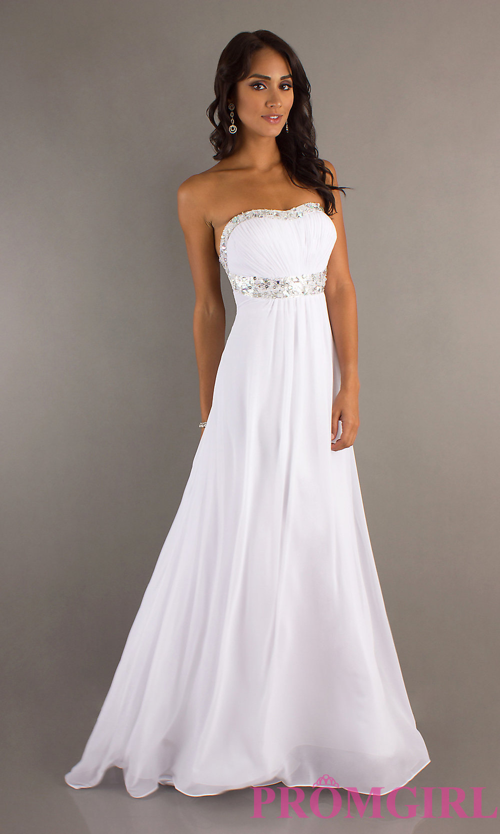 Elegant white gown by la femme 15027