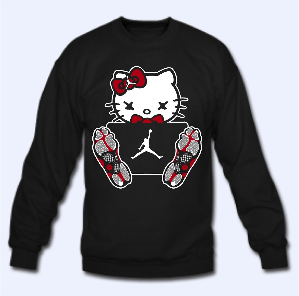 Hello kitty jordan 13 bred thirteens