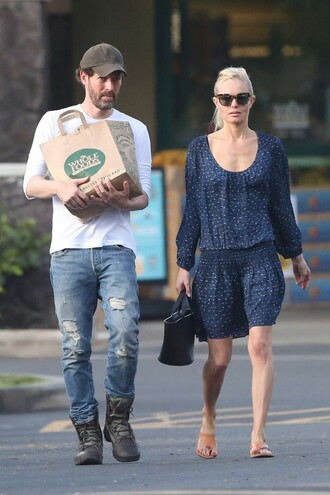 dress spring spring dress kate bosworth sandals sunglasses bag shoes