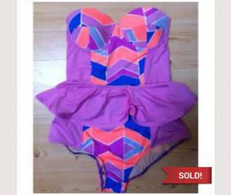 swimwear pink swimwear blue swimwear retro swim purple swimwear