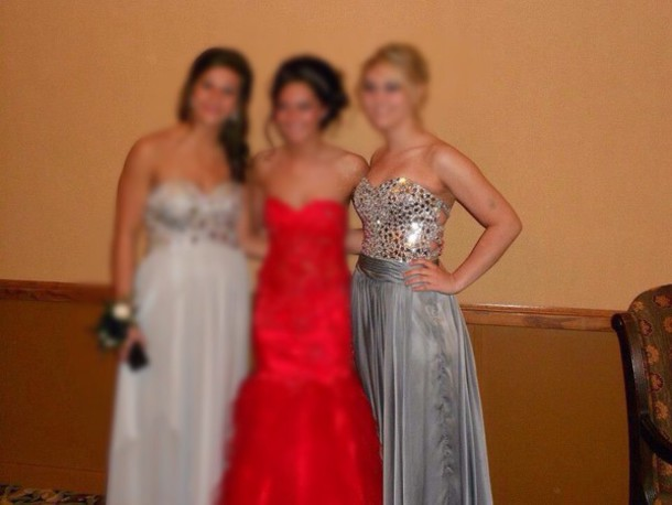 dress silver long dress