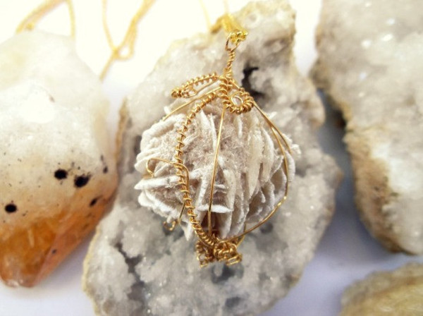 jewels Wire Wrapped necklace gemstone desert minerals stone jewelry fairy pixie festival crystal alternative desert rose vintage hippie hippie chic hippie jewelry festival jewelry grunge