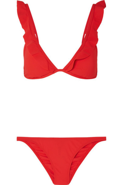 Tory Burch bikini triangle bikini triangle red swimwear
