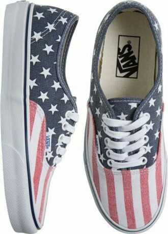 shoes american flag vans