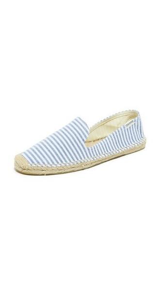 espadrilles white blue shoes