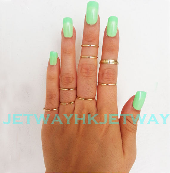 Wholesale Lot Gold Silver Stack Plain Cute Above Knuckle Ring Band MIDI Ring | eBay