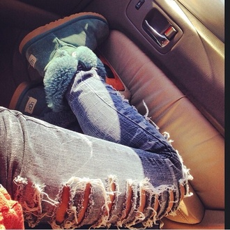 jeans distressed ripped jeans grey denim ugg boots