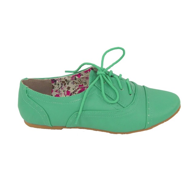 Nature Breeze Cambridge-03 Lace-up Oxford Flats - Polyvore