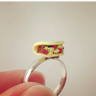 jewels ring food red yellow green style fashion