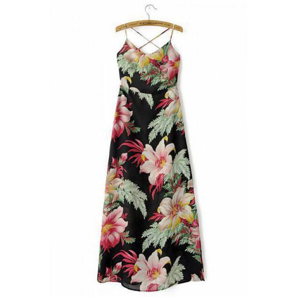 floral dress beach dress maxi dress summer outfits spaghetti strap dress