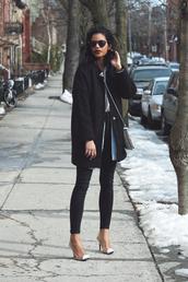 babes in velvet,blogger,coat,tank top,top,shirt,jeans