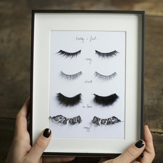 home accessory eyelashes picture homedecor home decor frame lashes pictures fashion girly make-up