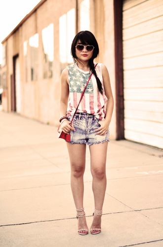 daily disguise tank top shorts shoes bag jewels sunglasses