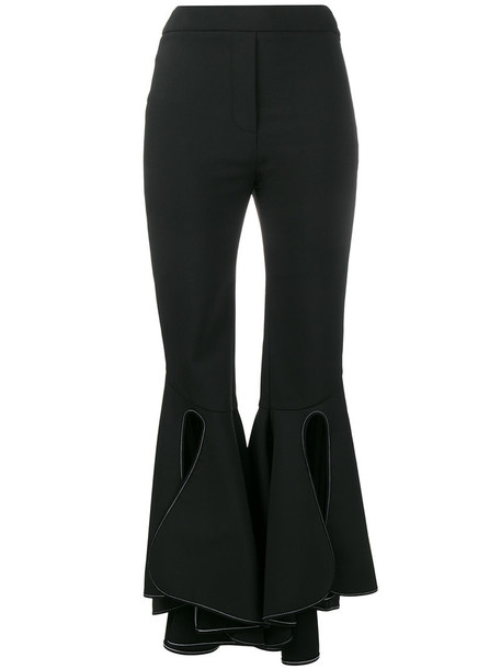 ellery high waisted high women spandex cotton black wool pants