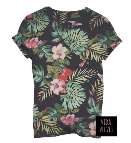 T shirt hawaiian hawaiian t shirt print wheretoget for Hawaiian graphic t shirts