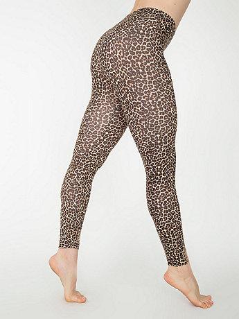 Leopard Print Cotton Spandex Jersey Legging | American Apparel